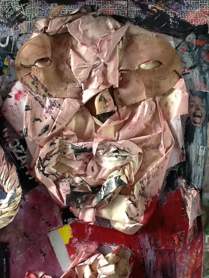 Le masque de la capitulation ( détail )