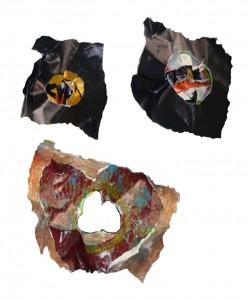Tête masquée noire ( détails )